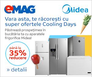 emag.ro: Pana la 35% reducere la aparatele frigorifice Midea