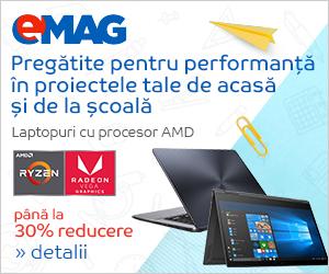 emag.ro: Laptopuri cu procesor AMD Ryzen