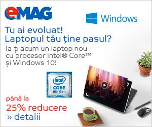 emag.ro: Laptopuri cu Intel si Microsoft, 19.08- 16.09.2019