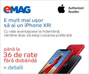 emag.ro: Campanie rate fara dobanda iPhone XR
