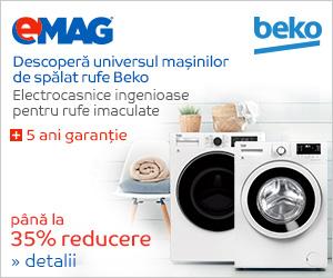 emag.ro: Pana la 35% reducere la masinile de spalat rufe Beko