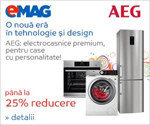 emag.ro: Pana la 25% reducere la electrocasnicele mari AEG