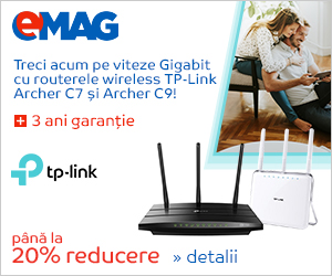 emag.ro: Routere TP-Link Archer C7 si C9, 22- 29.08.2019
