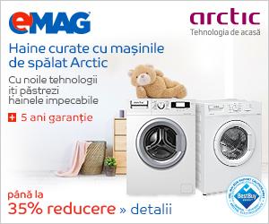emag.ro: Pana la 35% reducere la masinile de spalat rufe Arctic