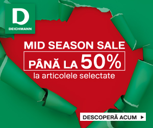 Deichmann.com: MidSeason Sale - până la 50% reducere la o selecție de produse în Deichmann Online Shop