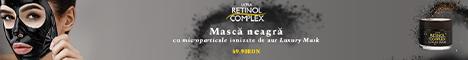 Dermacos.ro: Masca neagra peel-off cu particule ionizate aurii