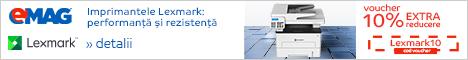 emag.ro: Voucher 10% extra reducere imprimante Lexmark, 15- 19.05.2019