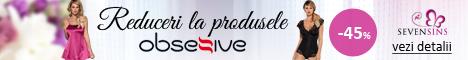 SevenSins.ro: 45% reducere la produse marca Obsessive!
