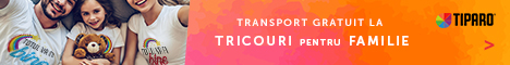 tiparo.ro: Campanie Tricouri familie- cu transport gratuit