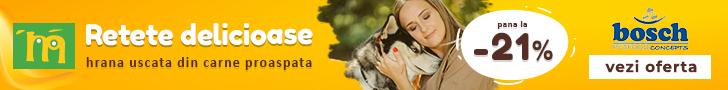 Animax.ro: Pana la -21% la hrana uscata pentru caini Bosch