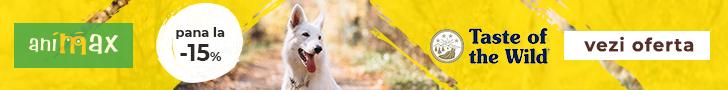 Animax.ro: Pana la -15% la hrana uscata pentru caini Taste of the Wild