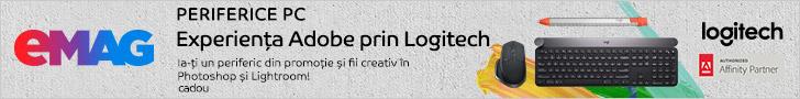 emag.ro: Campanie periferice Logitech+ cadou Bundle Adobe creative pt fotografi, 04.10.2019- 31.01.2020