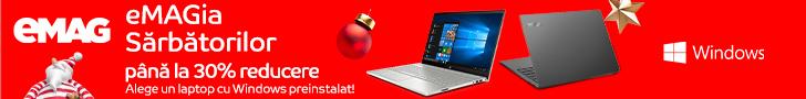 emag.ro: Laptopuri cu Windows preinstalat- sub umbrela eMAGIA, 09- 16.12.2019