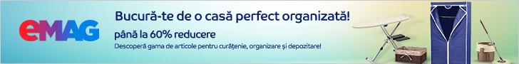 emag.ro: Pana la 60% reducere la articolele de curatenie, organizare si depozitare, 17- 29.02.2020