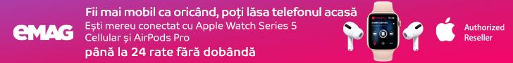 emag.ro: Campanie Apple Watch Airpods, 06-19 iulie