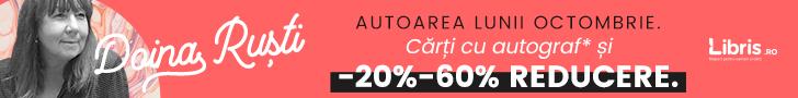 Libris.ro: Doina Rusti, autoarea lunii. Carti cu autograf*, -20% - 60% reducere. Transport GRATUIT peste 50 lei!