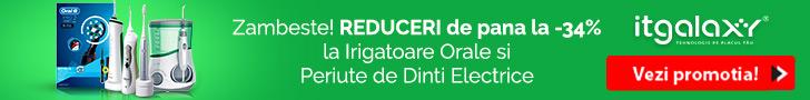ITGalaxy.ro: Zambeste! REDUCERI de pana la -34% la Irigatoare Orale si Periute de Dinti Electrice