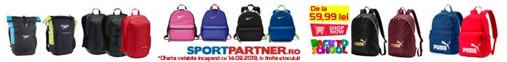 Sportpartner.ro: BacktoSchool - rucsacuri si genti