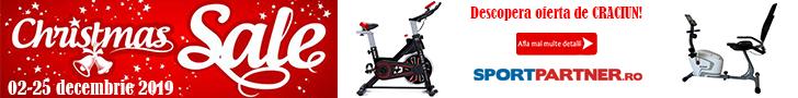 Sportpartner.ro: Promotie de Craciun - biciclete fitness