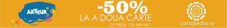 Cartepedia.ro: 50% la a doua carte Arthur