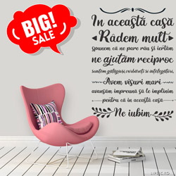 "Lipesc.ro: Promotie Sticker de perete ""In aceasta casa"""