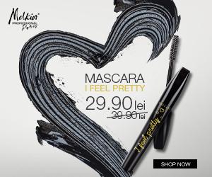 """Melkior - ENJOY IT! Luna MARTIE vine cu un pret special la MASCARA """"I feel pretty"""": 29,90 lei (de la 39,90 lei)"""