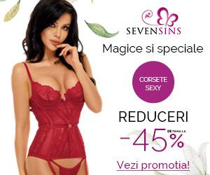 SevenSins - Poarta un corset sexy cu reducere de pana la 45%
