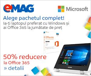 🏷 50% discount pentru Office 365 achizitionat impreuna cu un laptop cu Windows 👍