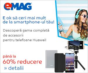 Pana la 60% reducere la accesoriile Huawei