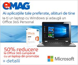 [IT] Pachet 50% reducere la Office 365 cumparat cu un laptop cu Windows