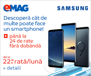 pana la 24 rate fara dobanda la telefoanele Samsung