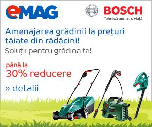🏷 30% reducere la gama de gradinarit Bosch 👍