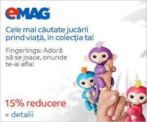 🏷 15% reducere la jucarii Fingerlings 👍