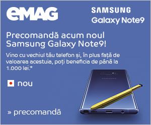 Campanie Precomandă Samsung Galaxy Note 9