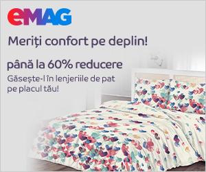 eMAG - Reducere pana la 70% la toata gama de lenjerii de pat, 02- 31.03.2021