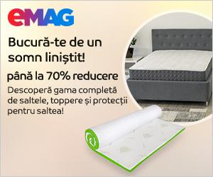 eMAG - Reducere pana la 65% la toata gama de saltele, toppere si protectii saltea, 02- 31.03.2021