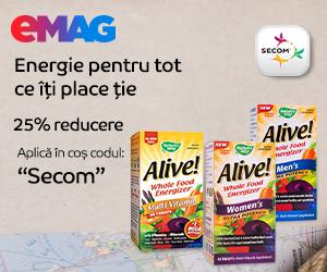 eMAG - Voucher 20% reducere la vitamine Alive Secom