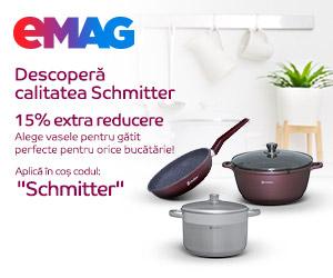 eMAG - Voucher 15% extra reducere household Schmitter, 09- 14.06.2021