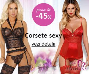 SevenSins - Pana la 45% reducere la corsete sexy!