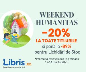 - Humanitas cu -20% la toate titlurile! Pana la -89% pentru lichidari de stoc!