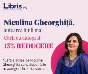 libris - Niculina Gheorghiță, autoarea lunii mai. Autograf* si 15% reducere