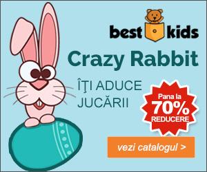 BestKids - Crazy Rabbit! Pana la 70% REDUCERE la jucariile din Tolba Iepurasului