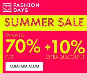 🏷 Summer Sale – reduceri de pana la 70% + 10% extra discount 👍