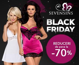 SevenSins - Black Friday – reduceri de pana la 70%