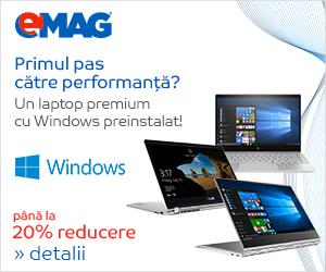 Laptopuri premium cu Windows pana la 20% reducere