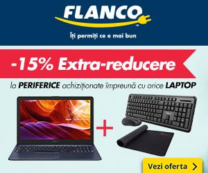 Flanco - -15% extra-reducere la PERIFERICE achiziționate împreună cu orice LAPTOP