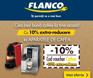 Flanco - Cea mai bună cafea la tine acasă! Cu 10% extra-reducere la APARATELE DE CAFEA