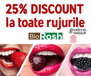 Biorosh - 25% discount la gama de rujuri BIO