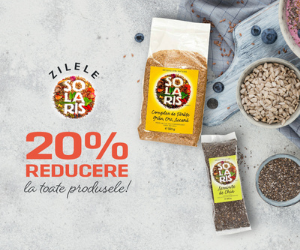 Vegis - Zilele Solaris: 20% REDUCERE la toate produsele!