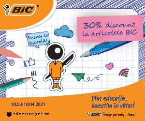 carturesti - 30% DISCOUNT LA ARTICOLELE BIC